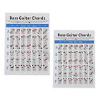 Electric Bass Guitar Practice Chart Learn Play Guitar Guitar Accessory
