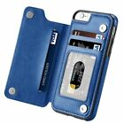 Magnetic Leather Wallet Case Card Slot Shockproof Flip Cover Iphone 7 8  Plus Xs
