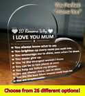Engraved Gift Keepsake Special Occasion Birthday Mummy Daddy Grandma Grandad Nan