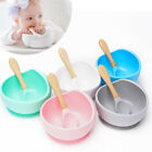 Baby Silicone Suction Cup Bowl Spoon Set Non-Slip Learning Feeding Dinnerware