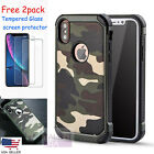 Army Camouflage Soft TPU Dual Layer Heavy Duty Shockproof Protective For iPhone