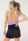 NEW Free People Movement Strappy Back Tighten Up Tank in Purple XS/S-M/L 34.80