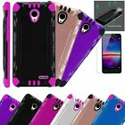 For Wiko Ride 2 Phone Case +tempered Glass Screen Protector Brushed Cover Combat