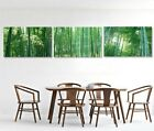 Green Bamboo Canvas Painting Three Picture Combination 3 Panel No Frame