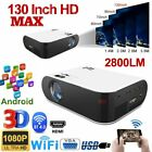 HD 1080P 4K Wifi Bluetooth Mini Android LCD Projector Home Movie Theater HDMI AV