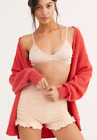 NEW Free People Intimately Ruched Seamless Shorts in Peach sz XS/S  M/L 49.78
