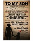 To My Son i'm always here for you Poster wall decor from mom