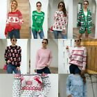 Winter Jumper Tops Knitwear Knit Shirt Christmas Knitted Sweater Pullover Loose