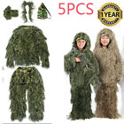 3D Ghillie Suit Camo Woodland Camouflage Forest Hunting 4-Piece Suit+ Bag M-2XLGhillie Suits - 177870