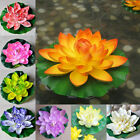 18cm Artificial Lotus Floating Water Lily Flowers Plants Home Decors Pony Ti