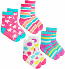 Girls 2 Pairs Socks Kids Gripper Non Slip 2 Pack Socks Soft Winter Socks 2 Psc