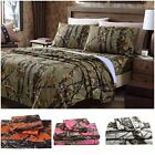 Chezmoi Collection Salem 4-Piece Printed Forest Woods Camo Sheet Set RV Sheets