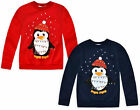 Kids Christmas Jumper New Boys Girls Xmas Penguin Sweatshirt Top Ages 3-13 Years
