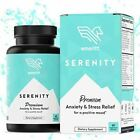 Serenity Anxiety Relief Supplement 1000mg+ Ashwagandha Herbal Blend with B12 Rho