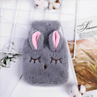 PVC Hot Water Bottle Bag Fluffy Faux Fur Plush Cover Warm Relaxing Heat Therapy