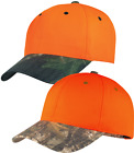 Hunting Enhanced Visibility Cap with Camo Brim Realtree Max-Extra - Mossy Oak