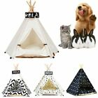 Pet Tent House Cat Bed Portable Teepee Thick Cushion Dog Puppy Outdoor Indoor