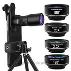 5in1 HD 18X Zoom Telephoto Phone Camera Lens Wide Macro For Samsung Galaxy S20+