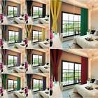 """46""""*72""""thermal Blackout Curtains Ready Made Eyelet Ring Top  + Tie Backs"""