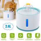 Automatic Electric Pet Water Fountain Cat Dog USB Filter Dish Drinking Bowl 2.4L