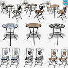Garden Mosaic Table Chair Furniture Set Bistro Pub Outdoor Patio Round Table Top