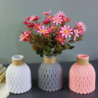 Flower Vase Plastic Flower Pot Basket Nordic Vases Home Decor Imitation Ceramic