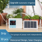 Solar Power Garden Timing Dual Pump Automatic Irrigation System Watering Device