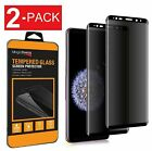 2-Pack Privacy Anti-Spy Tempered Glass Screen For Samsung Galaxy S8 S9 Plus
