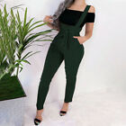 Women High Waist Casual Pencil Pant Strappy Stretch Suspender Trousers Dungarees