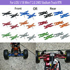 Aluminum Front/Rear Lower Arms For LOSI 1/18 Mini-T 2.0 2WD Stadium Truck RTR