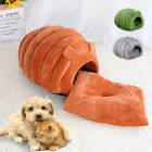 Cat Cave Bed House Igloo Nest Pet Small Dog Washable w/ Inner Cushion Mat Gray