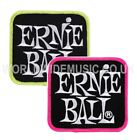 1 Ernie Ball Stacked Logo Sew On Cloth Patch - Choice of Yellow or Pink
