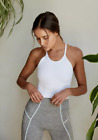 NEW Free People Movement Happiness Runs Long Crop Top in White XS/S-M/L 40