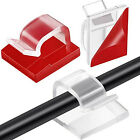 100x Black/White/Clear Self Adhesive Cable Clip Cord Holder Organizer Management