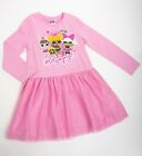 BNWT Girls LOL SURPRISE doll pink long sleeve glitter mesh dress Age 4 - 12 yrs