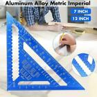 7/12 Inch Metric Triangle Angle Ruler Aluminum Alloy Measuring Woodworking Tool
