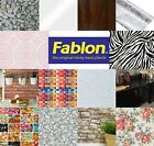 Genuine Fablon Self Adhesive Vinyl, Sticky Back Plastic. 1-6 Rolls Craft Refurb