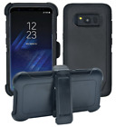 Samsung Galaxy S8 Holster Kickstand Case Luxury Heavy Duty Slim Protective Cover