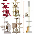 Cat Tree Scratching Post Kitty Tower Activity Center 5-Tier Floor to Ceiling GD