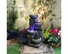 Aztec Style 4 Bowl Contemporary Water Feature,Solar Powered,Modern Water Feature