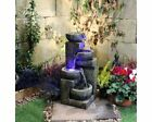 Aztec Style 4 Bowl Contemporary Water Feature, Mains Powered, Modern Fountain