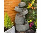 Stacked Slate Bowls Contemporary Water Feature, Mains Powered, Traditional