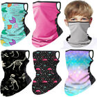 2PCS/Set Kids Face Bandanas Cycling Balaclava Breathable Mesh Neck Gaiter Scarf