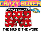 Crazy Boxers Men's Boxer Briefs FAMILY GUY PETER BIRD IS THE WORD NEW IN PACKAGE