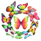 12PCS Wall Stickers Gradient Butterfly PVC Decals Boys Girls Bedroom Wall Decor