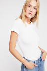 NEW Free People Intimately Seamless Ribbed Cami Top in White Sz XS/S-M/L 50