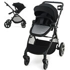 Babyjoy Foldable High Landscape Baby Stroller W/ Reversible Reclining Seat