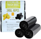 4 Gallon Trash Bags Small Garbage Bags 60 Cts Recycled Compostable Trasn Can
