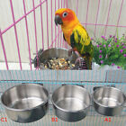 Pet Hanging Bowl Feeding Dog Bird Parrot Food Water Cage Cup Stainless Steel