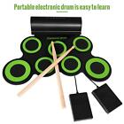Roll Up Drum Kit 9 Silicon Drum Pads USB Powered for Practice Beginners